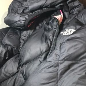 The North Face Reversible  jacket sm girl size